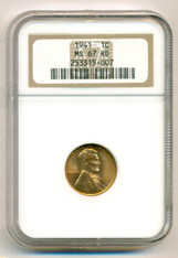 1941 Lincoln Wheat Cent MS67 RED NGC