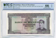 Mozambique 1976 (old 1967) 500 Escudos Bank Note Gem Unc 66 OPQ PCGS