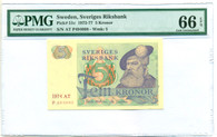 Sweden 1977-81 5 Kronor Bank Note Gem Unc 66 EPQ PMG