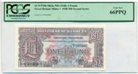 Great Britain ND (1948) Pound Military Voucher Gem New 66PPQ PCGS