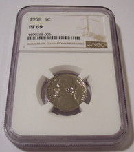 1958 Jefferson Nickel Proof PF69 NGC
