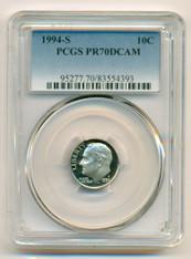1994 S Clad Roosevelt Dime Proof PR70 DCAM PCGS