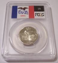 2004 S Clad Iowa State Quarter Proof PR70 DCAM PCGS Flag Label