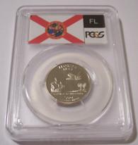 2004 S Clad Florida State Quarter Proof PR70 DCAM PCGS Flag Label