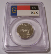 2001 S Clad North Carolina State Quarter Proof PR70 DCAM PCGS Flag Label