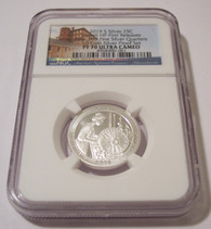 2019 S Silver Lowell HP Quarter Proof PF70 UC NGC First Releases