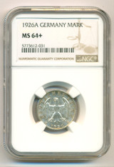Germany -Weimar Republic- Silver 1926 A Reichsmark UNC MS64+ NGC