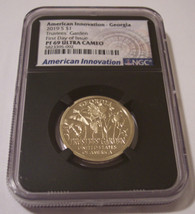 2019 S American Innovation Dollar Georgia - Trustee's Garden PF69 UC NGC Black Holder FDI