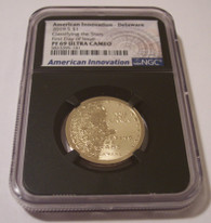 2019 S American Innovation Dollar Delaware - Classifying the Stars PF69 UC NGC Black Holder FDI