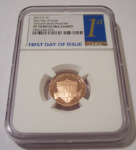2019 S Lincoln Shield Cent Proof PF70 RED Ultra Cameo NGC FDI