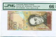 Venezuela 2015 100 Bolivares Bank Note Gem Unc 66 EPQ PMG