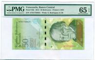 Venezuela 2015 50 Bolivares Bank Note Gem Unc 65 EPQ PMG