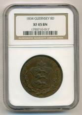 Guernsey 1834 8 Doubles X45 NGC