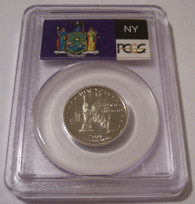 2001 S Clad New York State Quarter Proof PR70 DCAM PCGS Flag Label