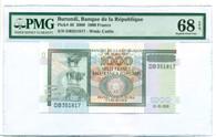 Burundi 2009 1000 Francs Bank Note Superb Gem Unc 68 EPQ PMG