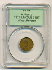 1927 Lincoln Wheat Cent Authentic PCGS OGH