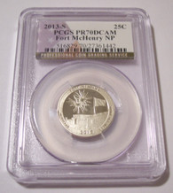 2013 S Clad Fort McHenry NP Quarter Proof PR70 DCAM PCGS Flag Label