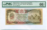 Afghanistan - Democratic Republic 1979 1000 Afghanis Bank Note Gem Unc 66 EPQ PMG