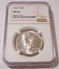 1967 Kennedy Half Dollar MS64 NGC