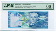 Barbados 2013 2 Dollars Bank Note Gem Unc 66 EPQ PMG