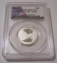 2011 S Silver Chickasaw NP Quarter Proof PR70 DCAM PCGS Flag Label