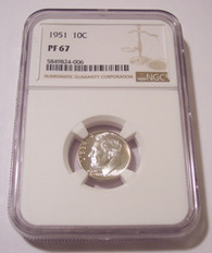 1951 Roosevelt Dime Proof PF67 NGC