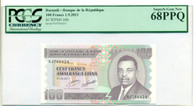 Burundi 2011 100 Francs Bank Note Superb Gem New 68 PPQ PCGS Currency