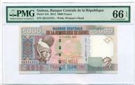 Guinea 2012 5000 Francs Bank Note Gem Unc EPQ PMG