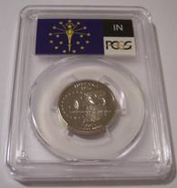 2002 S Clad Indiana State Quarter Proof PR70 DCAM PCGS Flag Label