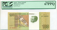 Angola 2012 100 Kwanzas Bank Note Superb Gem New 67 PPQ PCGS Currency