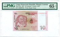 Congo Democratic Republic 1997 10 Centimes Bank Note Gem Unc 65 EPQ PMG