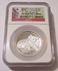 Australia 2012 P 1 oz Silver Dollar Koala High Relief Proof PF70 UC NGC FR Low Mintage