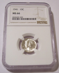 1941 Mercury Dime MS66 NGC