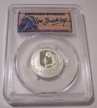 2020 S Silver Marsh Billings Rockefeller NP Quarter PR70 DCAM PCGS FS Buckley Signed