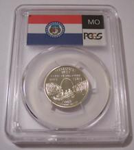 2003 S Silver Missouri State Quarter Proof PR70 DCAM PCGS Flag Label
