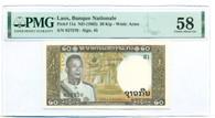 Laos 1963 20 Kip Bank Note Ch AU 58 PMG