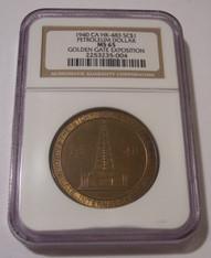 1940 Petroleum So-Called Dollar Medal HK-483 Gilt Bronze MS65 NGC