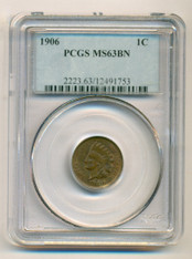 1906 Indian Head Cent MS63 BN PCGS
