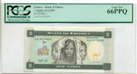 Eritrea 1997 1 Nafka Bank Note Gem New 66 PPQ PCGS Currency