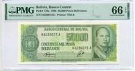 Bolivia 1984 50,000 Pesos Bolivianos Bank Note Gem Unc 66 EPQ PMG