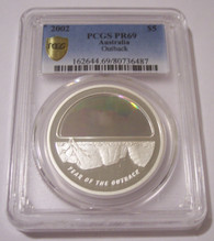 Australia 2002 Silver 5 Dollars Year of the Outback - Hologram Proof PR69 DCAM PCGS Low Mintage