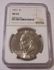 1977 Eisenhower Dollar MS65 NGC