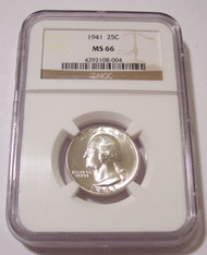1941 Washington Quarter MS66 NGC
