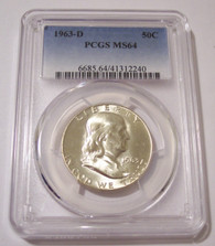 1963 D Franklin Half Dollar MS64 PCGS