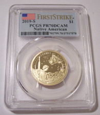 2019 S Native American Dollar Mary Golda Ross Proof PR70 DCAM PCGS First Strike