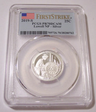 2019 S Silver Lowell NP Quarter Proof PR70 DCAM PCGS First Strike
