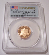2019 S Lincoln Shield Cent Proof PR70 RED DCAM PCGS First Strike
