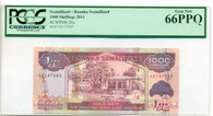 Somaliland 2011 1000 Shillings Bank Note Gem New 66 PPQ PCGS Currency