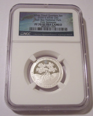 2020 S Silver Salt River Bay NP Quarter Proof PF70 UC NGC First Releases