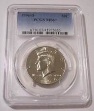 1996 D Kennedy Half Dollar MS67 PCGS